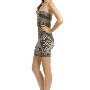 Dresses & Skirts - Herve Leger Strapless Tribal Short Bandage Dress C